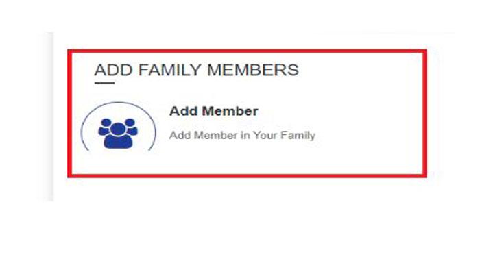 परिवार के सदस्य SAMAGRA आईडी कार्ड का नाम ADD