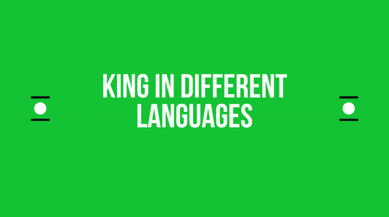 How to say king in other languages in the world?