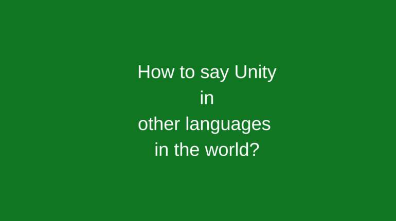 How to say Unity in other languages in the world?