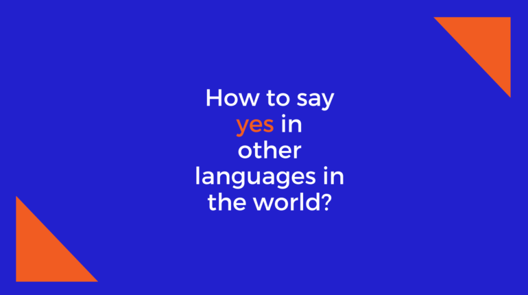 How to say Yes in other languages in the world?
