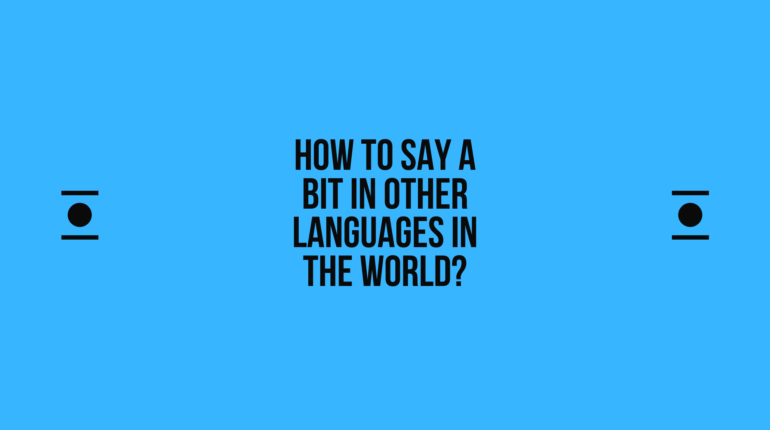 How to say a-bit in other languages in the world? | Live sarkari yojana
