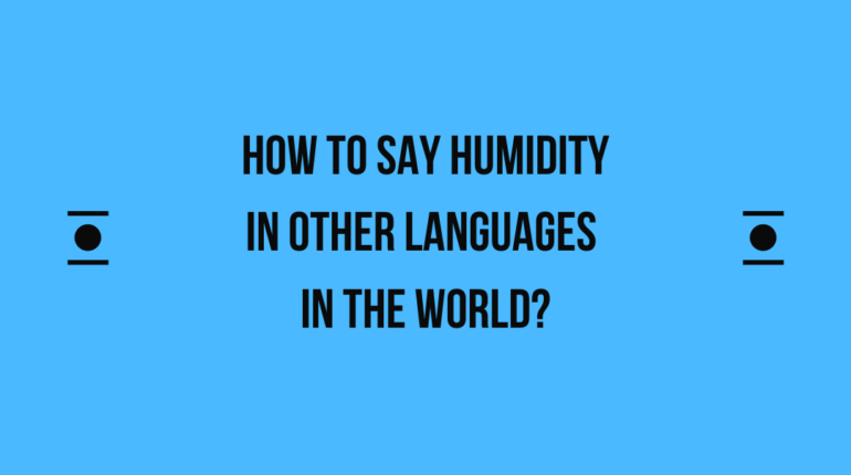 How to say Humidity in other languages in the world?